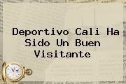 <b>Deportivo Cali</b> Ha Sido Un Buen Visitante
