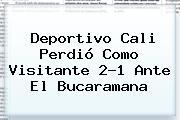 <b>Deportivo Cali</b> Perdió Como Visitante 2-1 Ante El Bucaramana
