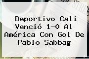 <b>Deportivo Cali</b> Venció 1-0 Al América Con Gol De Pablo Sabbag