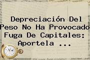 Depreciación Del Peso No Ha Provocado Fuga De Capitales: Aportela <b>...</b>