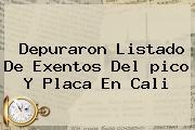 Depuraron Listado De Exentos Del <b>pico Y Placa</b> En <b>Cali</b>