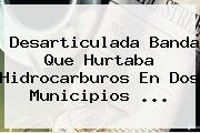 Desarticulada Banda Que Hurtaba Hidrocarburos En Dos Municipios ...