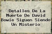 Detalles De La Muerte De <b>David Bowie</b> Siguen Siendo Un Misterio