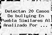 Detectan 20 Casos De <b>bullying</b> En Puebla Similares Al Analizado Por <b>...</b>