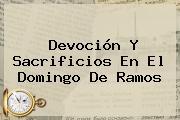 Devoción Y Sacrificios En El <b>Domingo De Ramos</b>