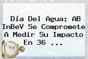 <b>Día Del Agua</b>: AB InBeV Se Compromete A Medir Su Impacto En 36 ...