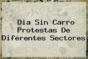 <b>Dia Sin Carro</b> Protestas De Diferentes Sectores