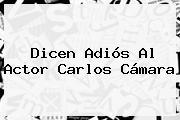 Dicen Adiós Al Actor <b>Carlos Cámara</b>