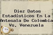 Diez Datos Estadísticos En La Antesala De <b>Colombia Vs. Venezuela</b>