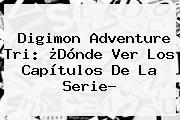 <b>Digimon Adventure Tri</b>: ¿Dónde Ver Los Capítulos De La Serie?