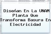 Diseñan En La <b>UNAM</b> Planta Que Transforma Basura En Electricidad