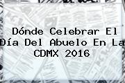 Dónde Celebrar El <b>Día Del Abuelo</b> En La CDMX 2016