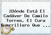 ¿Dónde Está El Cadáver De <b>Camilo Torres</b>, El Cura Guerrillero Que <b>...</b>