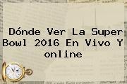 Dónde Ver La <b>Super Bowl 2016</b> En Vivo Y <b>online</b>