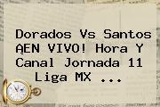 Dorados Vs Santos ¡EN VIVO! Hora Y Canal <b>Jornada 11 Liga MX</b> <b>...</b>