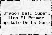 <b>Dragon Ball Super</b>: Mira El Primer Capítulo De La Serie