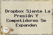 <b>Dropbox</b> Siente La Presión Y Competidores Se Expanden