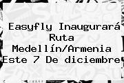 Easyfly Inaugurará Ruta Medellín/Armenia Este 7 De <b>diciembre</b>