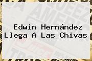 <b>Edwin Hernández</b> Llega A Las Chivas