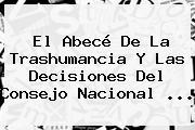 El Abecé De La Trashumancia Y Las Decisiones Del <b>Consejo Nacional</b> <b>...</b>