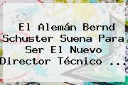 El Alemán <b>Bernd Schuster</b> Suena Para Ser El Nuevo Director Técnico <b>...</b>