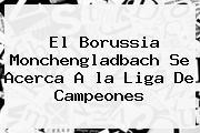 El Borussia Monchengladbach Se Acerca A <b>la Liga</b> De Campeones