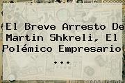 El Breve Arresto De <b>Martin Shkreli</b>, El Polémico Empresario <b>...</b>