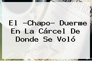 El ?<b>Chapo</b>? Duerme En La Cárcel De Donde Se Voló