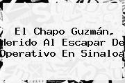 El <b>Chapo Guzmán</b>, Herido Al Escapar De Operativo En Sinaloa