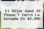 El Dólar Ganó 20 Pesos Y Cerró La Jornada En $2.990