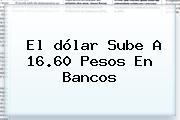 El <b>dólar</b> Sube A 16.60 Pesos En Bancos