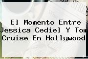 El Momento Entre <b>Jessica Cediel</b> Y Tom Cruise En Hollywood