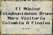 El Músico Estadounidense <b>Bruno Mars</b> Visitaría Colombia A Finales <b>...</b>