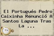 El Portugués <b>Pedro Caixinha</b> Renunció A Santos Laguna Tras La <b>...</b>