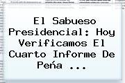 El Sabueso Presidencial: Hoy Verificamos El <b>Cuarto Informe</b> De Peña ...