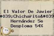 El Valor De Javier &#039;<b>Chicharito</b>&#039; Hernández Se Desploma 54%