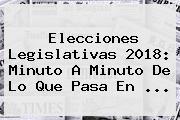 Elecciones Legislativas 2018: Minuto A Minuto De Lo Que Pasa En ...