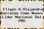 Eligen A <b>Alejandra Barrales</b> Como Nueva Líder Nacional Del PRD
