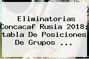 <b>Eliminatorias</b> Concacaf <b>Rusia 2018</b>: <b>tabla</b> De Posiciones De Grupos ...