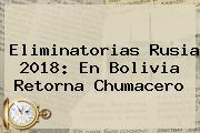 <b>Eliminatorias Rusia 2018</b>: En Bolivia Retorna Chumacero