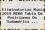 <b>Eliminatorias Rusia 2018</b> MIRA <b>Tabla De Posiciones</b> De <b>Sudamérica</b> ...