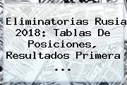<b>Eliminatorias</b> Rusia 2018: Tablas De Posiciones, Resultados Primera <b>...</b>