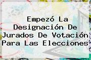 Empezó La Designación De Jurados De Votación Para Las Elecciones