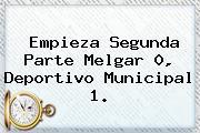 Empieza Segunda Parte Melgar 0, Deportivo Municipal 1.