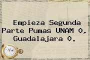 Empieza Segunda Parte Pumas <b>UNAM</b> 0, Guadalajara 0.