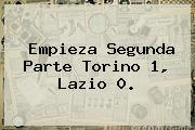 Empieza Segunda Parte Torino 1, Lazio 0.