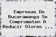 Empresas De Bucaramanga Se Comprometen A Reducir Olores ...