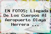 EN FOTOS: Llegada De Los Cuerpos Al Aeropuerto Olaya Herrera ...