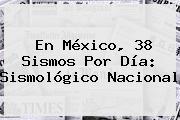 En México, 38 Sismos Por Día: <b>Sismológico Nacional</b>