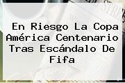 En Riesgo La <b>Copa</b> América Centenario Tras Escándalo De Fifa